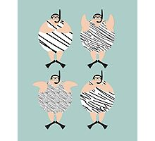 4 Swimming Snorklers  Photographic Print