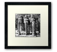 Elephant Shrine, Siem Reap Framed Print