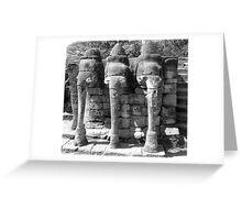Elephant Shrine, Siem Reap Greeting Card