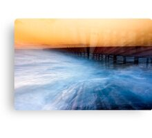 Dusk at Middle Brighton Baths #1 Canvas Print