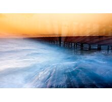 Dusk at Middle Brighton Baths #1 Photographic Print