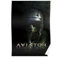 Fighter Pilot Helmet Hud Poster