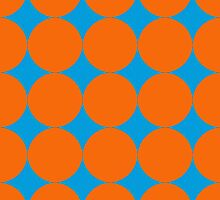 Diamond Brush Stroke Pattern (Blue Orange) by ProjectMayhem
