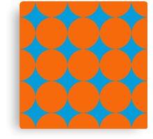 Diamond Brush Stroke Pattern (Blue Orange) Canvas Print