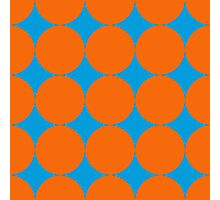 Diamond Brush Stroke Pattern (Blue Orange) Photographic Print