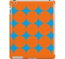 Diamond Brush Stroke Pattern (Blue Orange) iPad Case/Skin