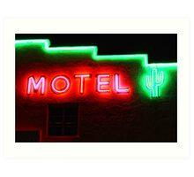 Neon Motel Art Print