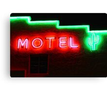 Neon Motel Canvas Print