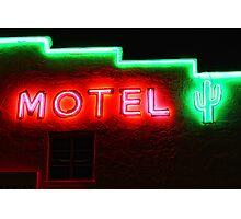 Neon Motel Photographic Print
