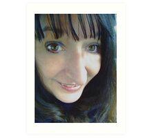 Blue Eye Shadow - I am IN!!! Art Print