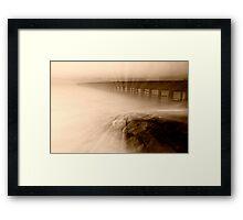 Dusk at Middle Brighton Baths #2 Framed Print