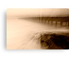 Dusk at Middle Brighton Baths #2 Canvas Print