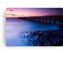 Dusk at Middle Brighton Baths #3 Canvas Print