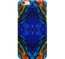Colorful Blue Abstract - Peace With The Past by Sharon Cummings iPhone Case/Skin