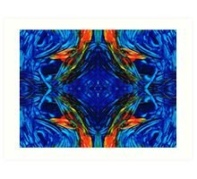 Colorful Blue Abstract - Peace With The Past by Sharon Cummings Art Print
