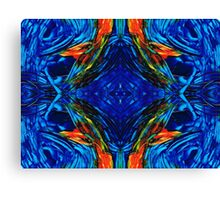 Colorful Blue Abstract - Peace With The Past by Sharon Cummings Canvas Print