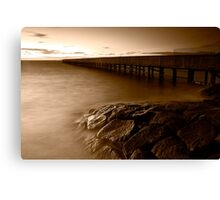 Dusk at Middle Brighton Baths #4 Canvas Print