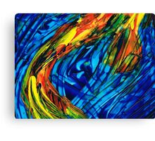 Colorful Abstract Art - Energy Flow 3 - By Sharon Cummings Canvas Print