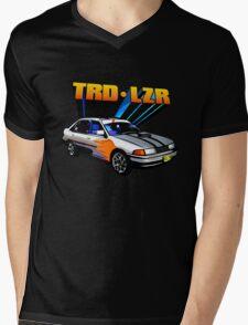 TRD Laser - 80's Style Bright Colour Mens V-Neck T-Shirt