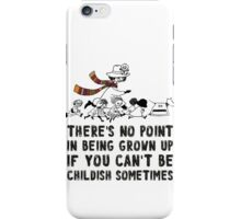 DOCTOR WHO MOOMINS NO POINT IN GROWN UP iPhone Case/Skin