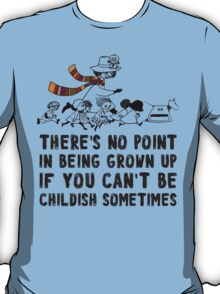 DOCTOR WHO MOOMINS NO POINT IN GROWN UP T-Shirt
