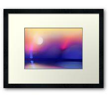 Sun and Blue Framed Print