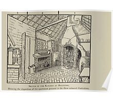 Kate Greenaway Collection 1905 0047 Sketch of Kitchen at Rolleston Poster