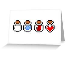 Zelda's potions - pixel art Greeting Card