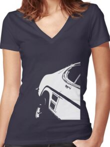Mk1 Capri Detail Women's Fitted V-Neck T-Shirt