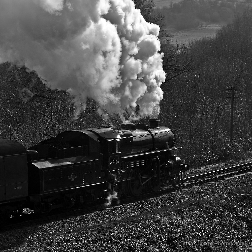 "LMS 2-6-0 Class 4MT no. 43106 ""The Flying Pig"" by Steve  Liptrot"