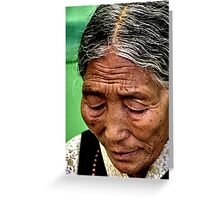in prayer. northern india Greeting Card