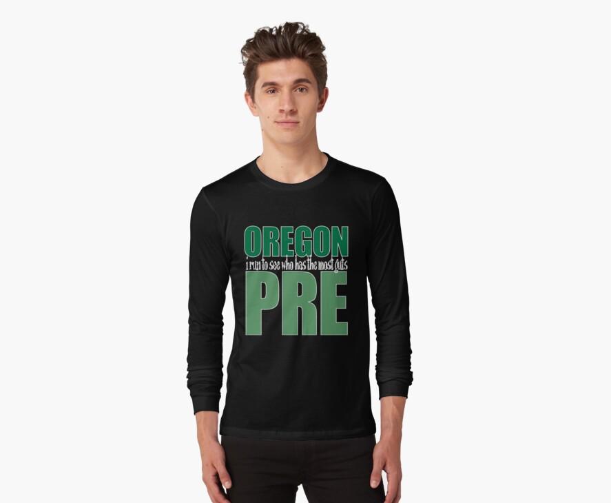 Steve Prefontaine Legend Dark shirt by Mark Maloney