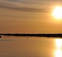 Lone Fisherman at Middle Beach by Kerry  Youde