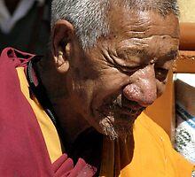 tibetan monk by tim buckley | bodhiimages