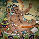 virupa. wall painting, northern india by tim buckley | bodhiimages