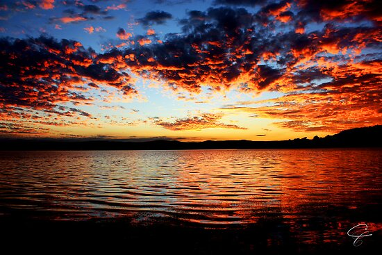 Warners Bay Sunset- Newcastle, NSW, Australia by Candice Campbell