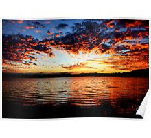 Warners Bay Sunset- Newcastle, NSW, Australia Poster