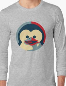 Linux tux penguin obama poster baby  Long Sleeve T-Shirt