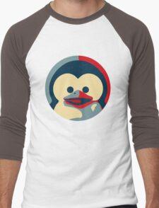 Linux tux penguin obama poster baby  Men's Baseball ¾ T-Shirt