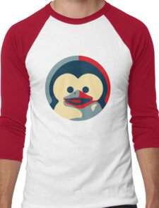 Linux tux penguin obama poster baby  Men's Baseball ¾ T-Shirt