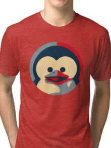 Linux tux penguin obama poster baby  Tri-blend T-Shirt