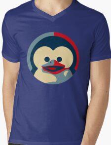 Linux tux penguin obama poster baby  Mens V-Neck T-Shirt