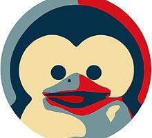 Linux tux penguin obama poster baby  by SofiaYoushi