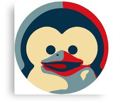 Linux tux penguin obama poster baby  Canvas Print