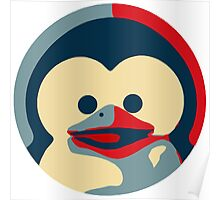 Linux tux penguin obama poster baby  Poster