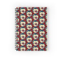 Linux tux penguin obama poster baby  Spiral Notebook