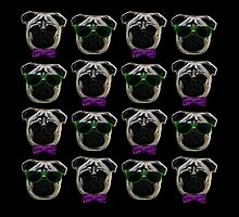 """Cool Pugs"" purple/green by shaneisadragon"