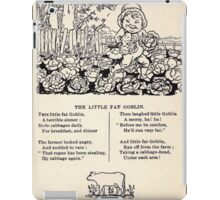 Miniature Under the Window Pictures & Rhymes for Children Kate Greenaway 1880 0047 The Little Fat Goblin iPad Case/Skin
