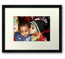 childhood emotions. Framed Print
