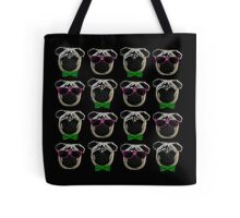 """Cool Pugs"" pink/green Tote Bag"